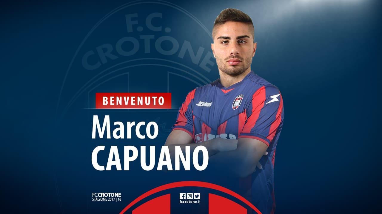 Capuano è del Crotone. Benvenuto Marco!
