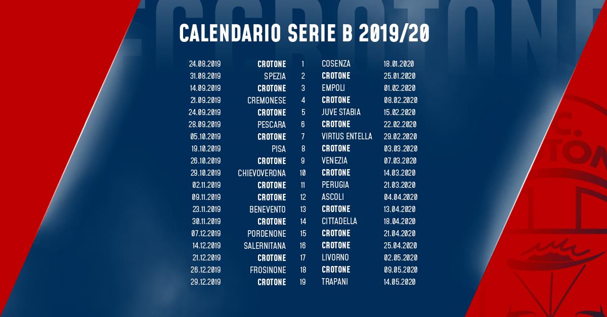 Calendario Serie B 2020 15.Il Calendario Dei Rossoblu F C Crotone