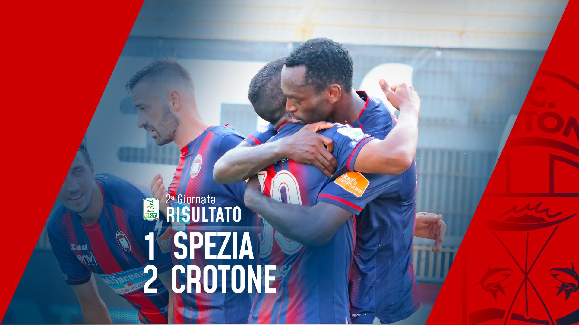 Serie BKT, 2a giornata: Spezia-Crotone 1-2