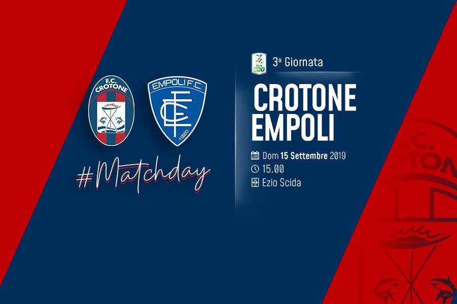 #CrotoneEmpoli, info biglietti