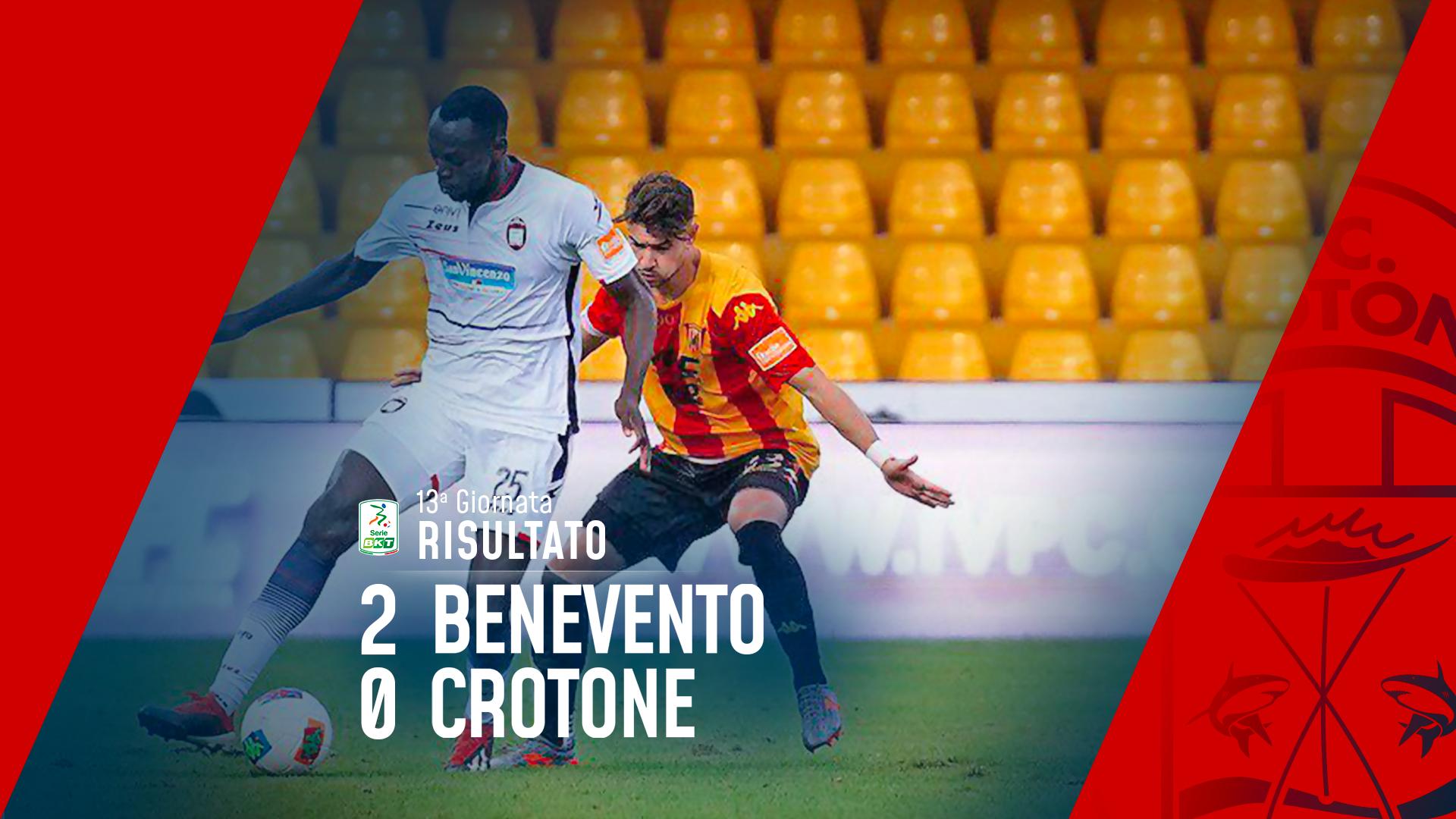 Serie BKT, 13ª giornata: Benevento-Crotone 2-0