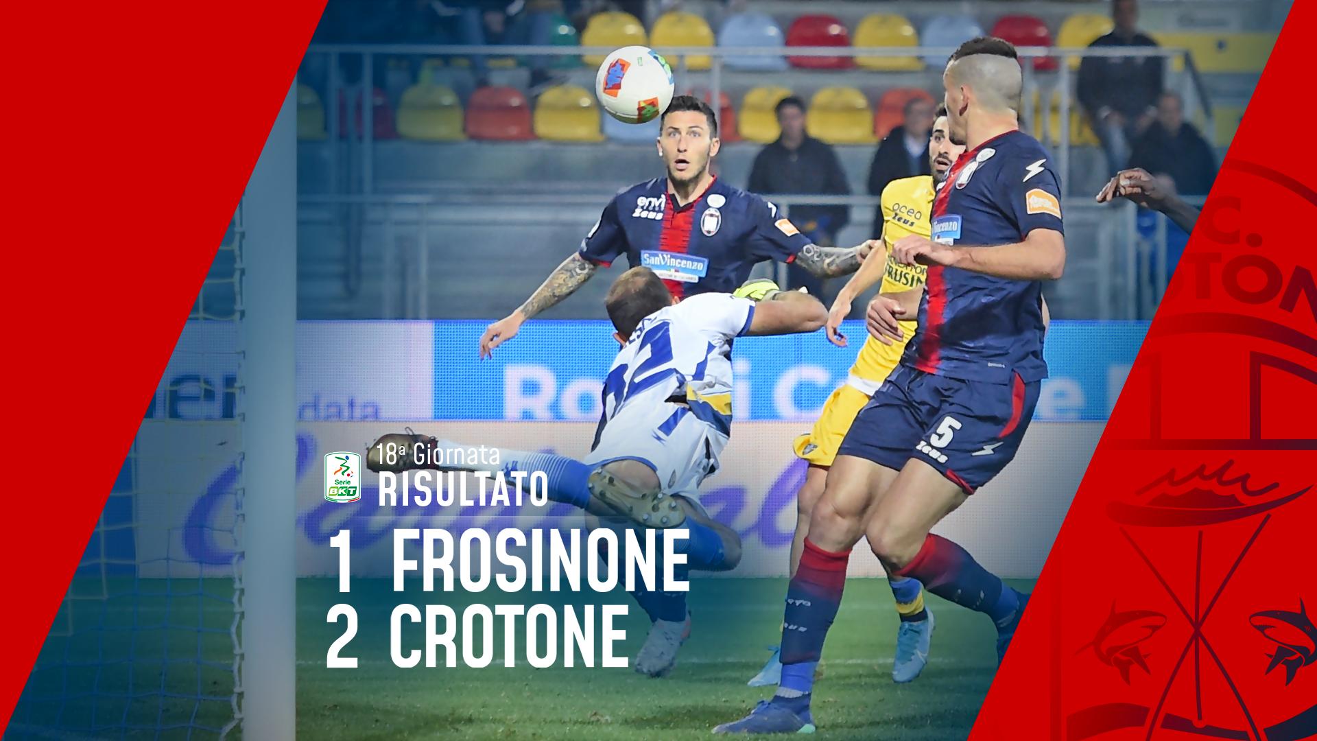 Serie BKT, 18ª giornata: Frosinone-Crotone 1-2