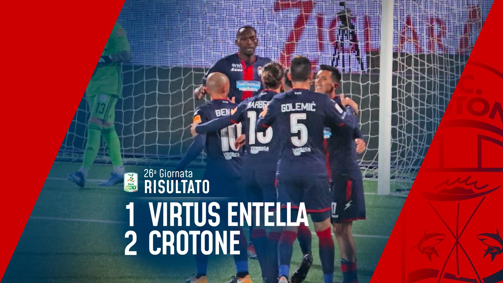 Serie BKT, 26ª giornata: Virtus Entella-Crotone 1-2