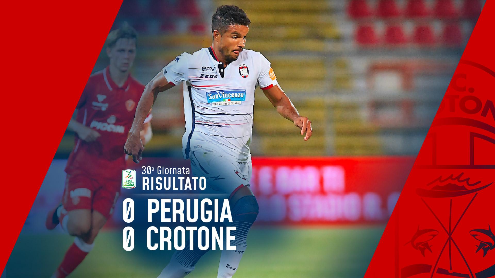 Serie BKT, 30ª giornata: Perugia-Crotone 0-0