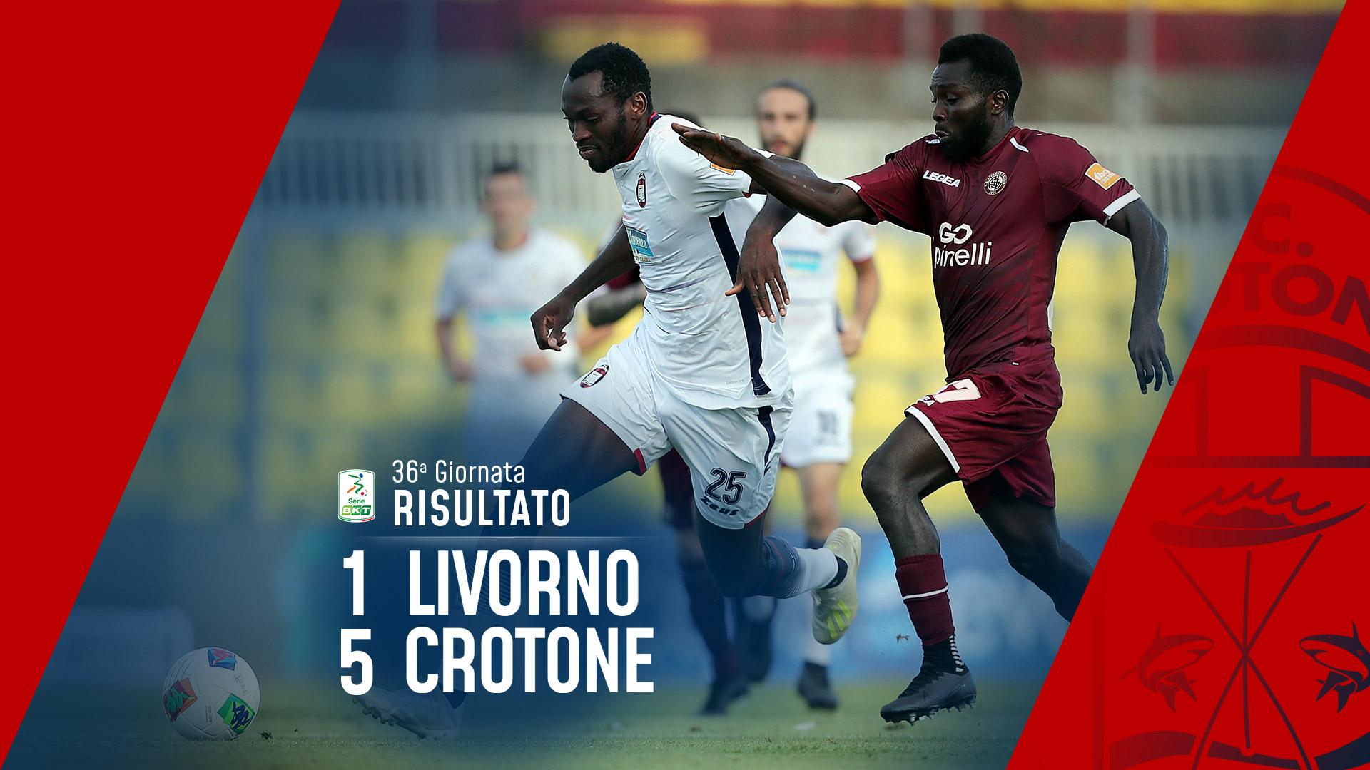 Serie BKT, 36ª giornata: Livorno-Crotone  1-5