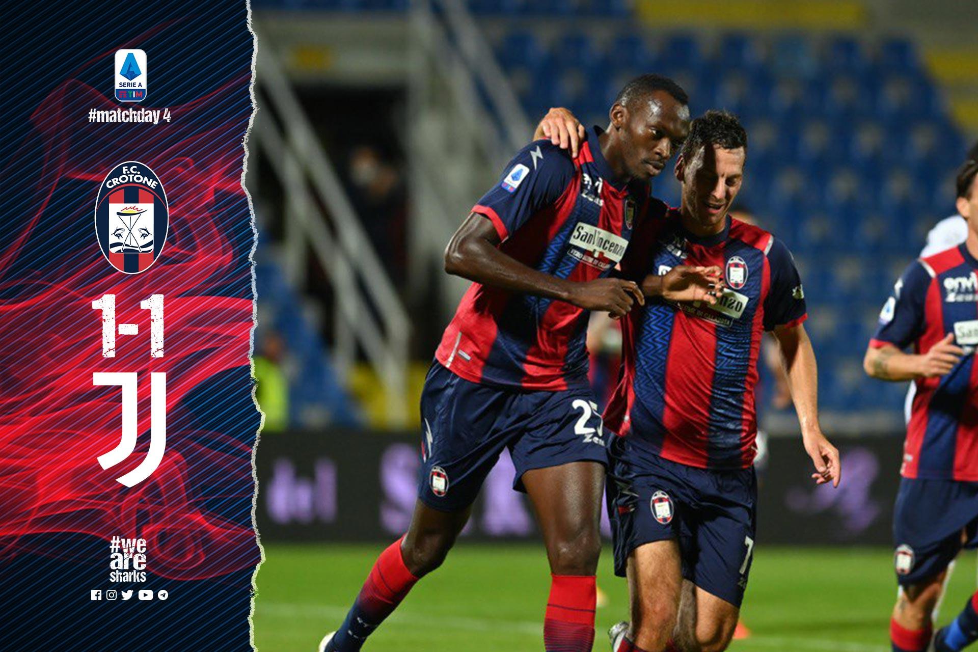 Serie A Tim, 4ª giornata: Crotone-Juventus 1-1