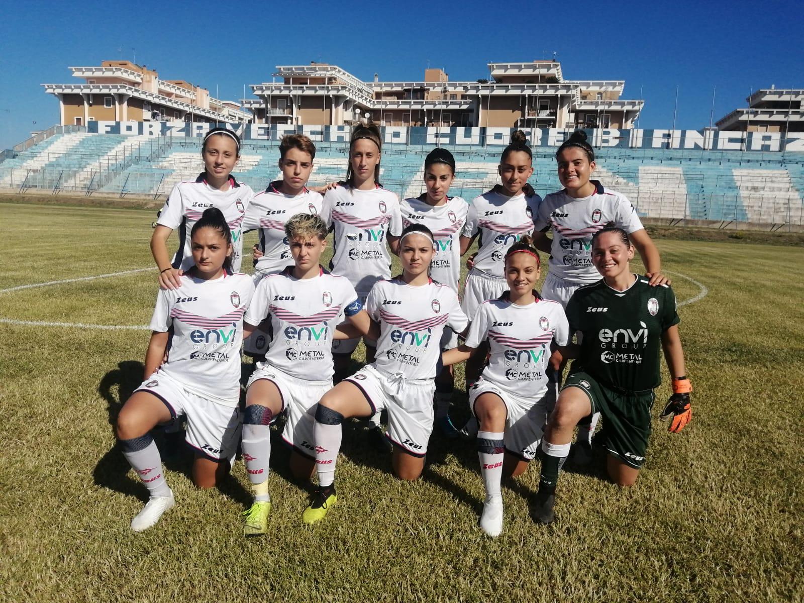 Femminile Serie C, 1ª giornata: Apulia Trani-Crotone 3-0