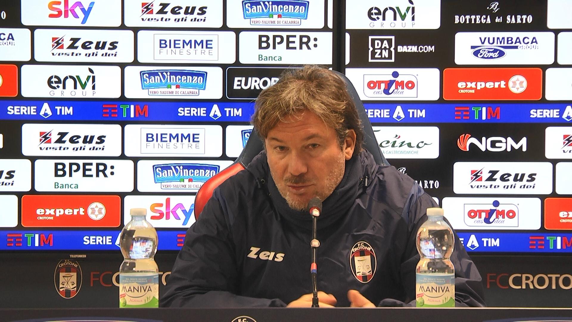 Mister Stroppa alla vigilia di #CrotoneBenevento