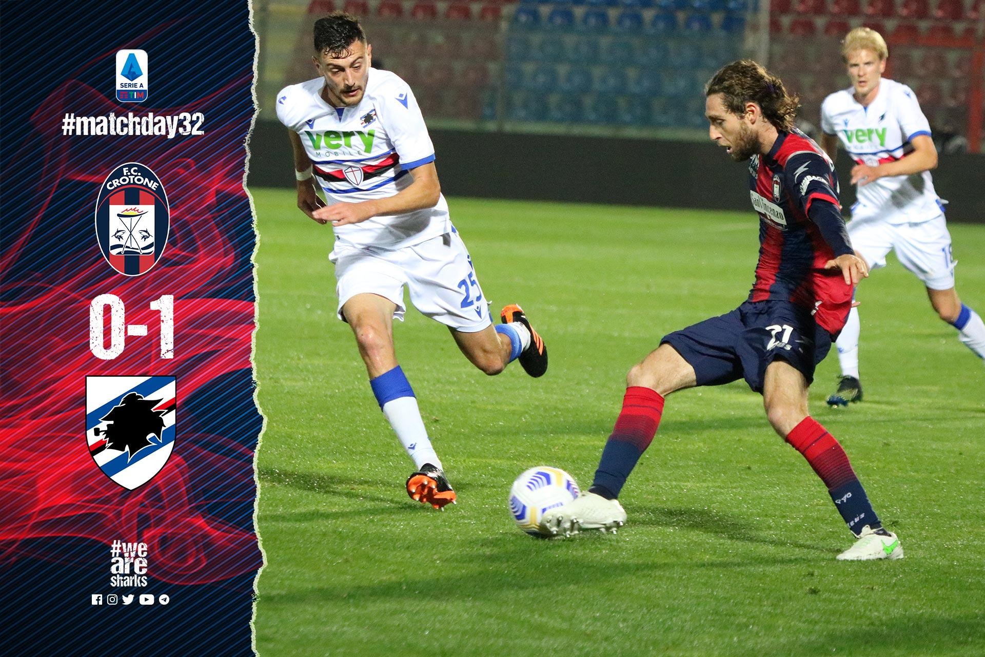 Serie A Tim, 32ª giornata: Crotone-Sampdoria 0-1