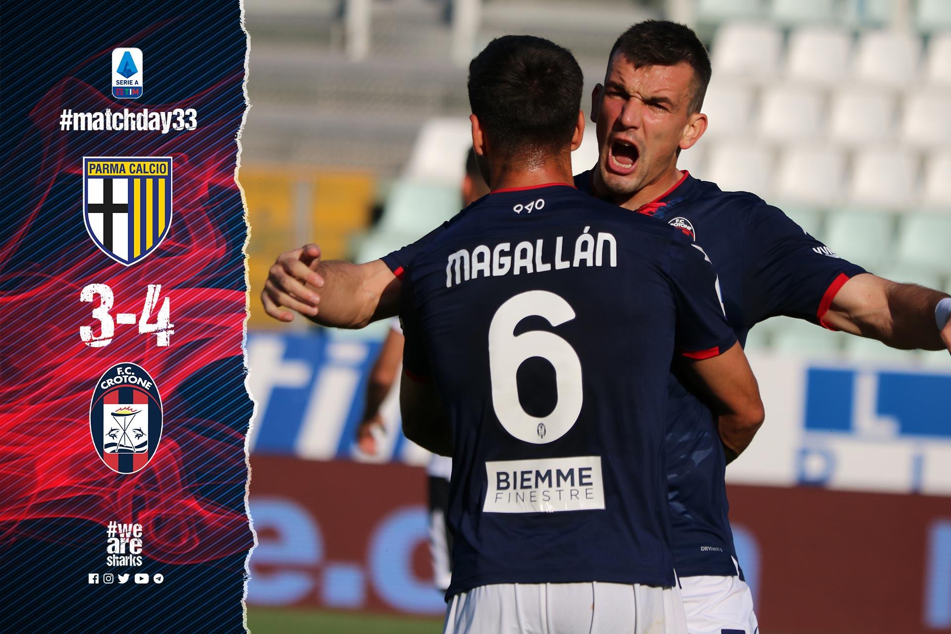 Serie A Tim, 33ª giornata: Parma-Crotone 3-4