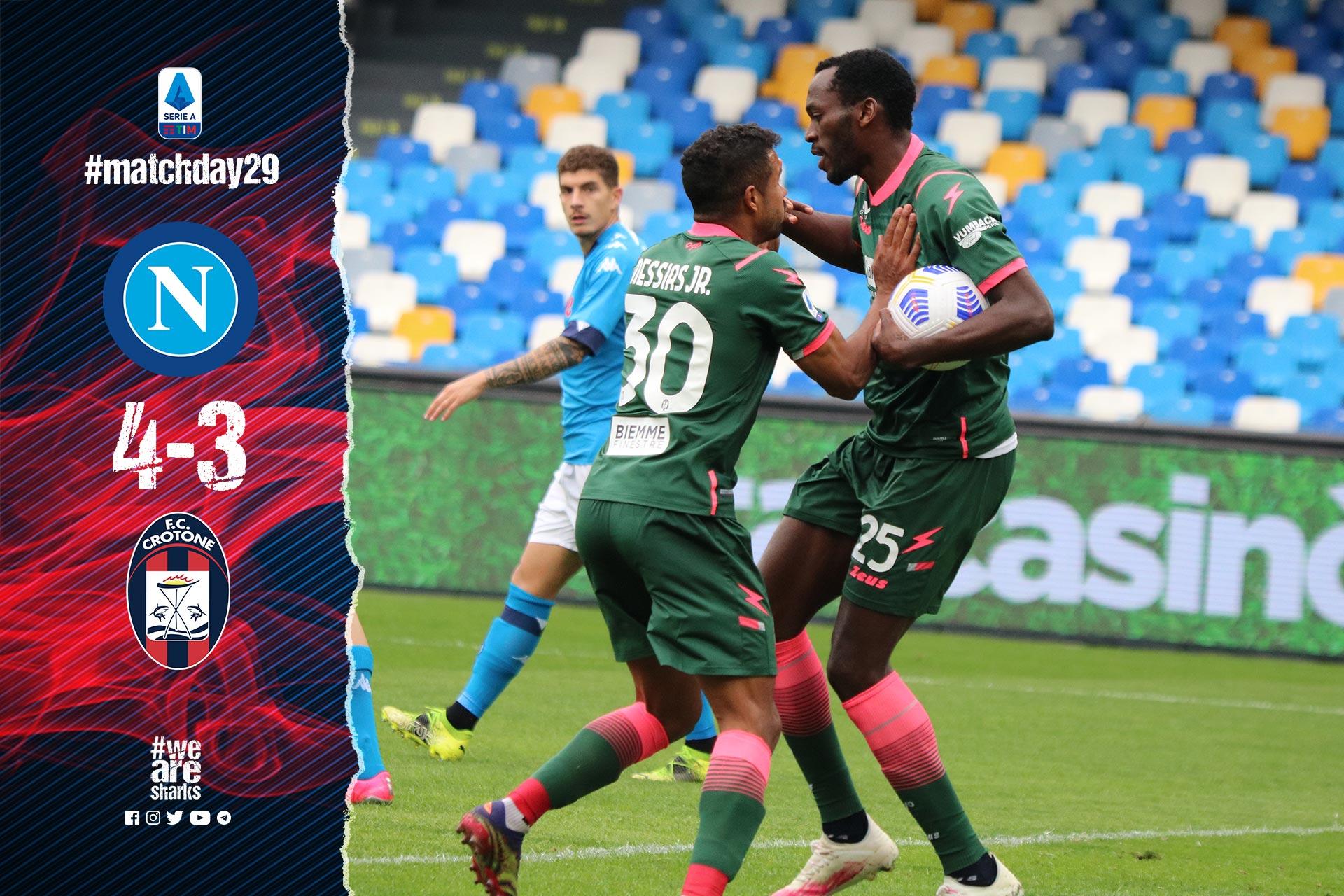 Serie A Tim, 29ª giornata: Napoli-Crotone 4-3