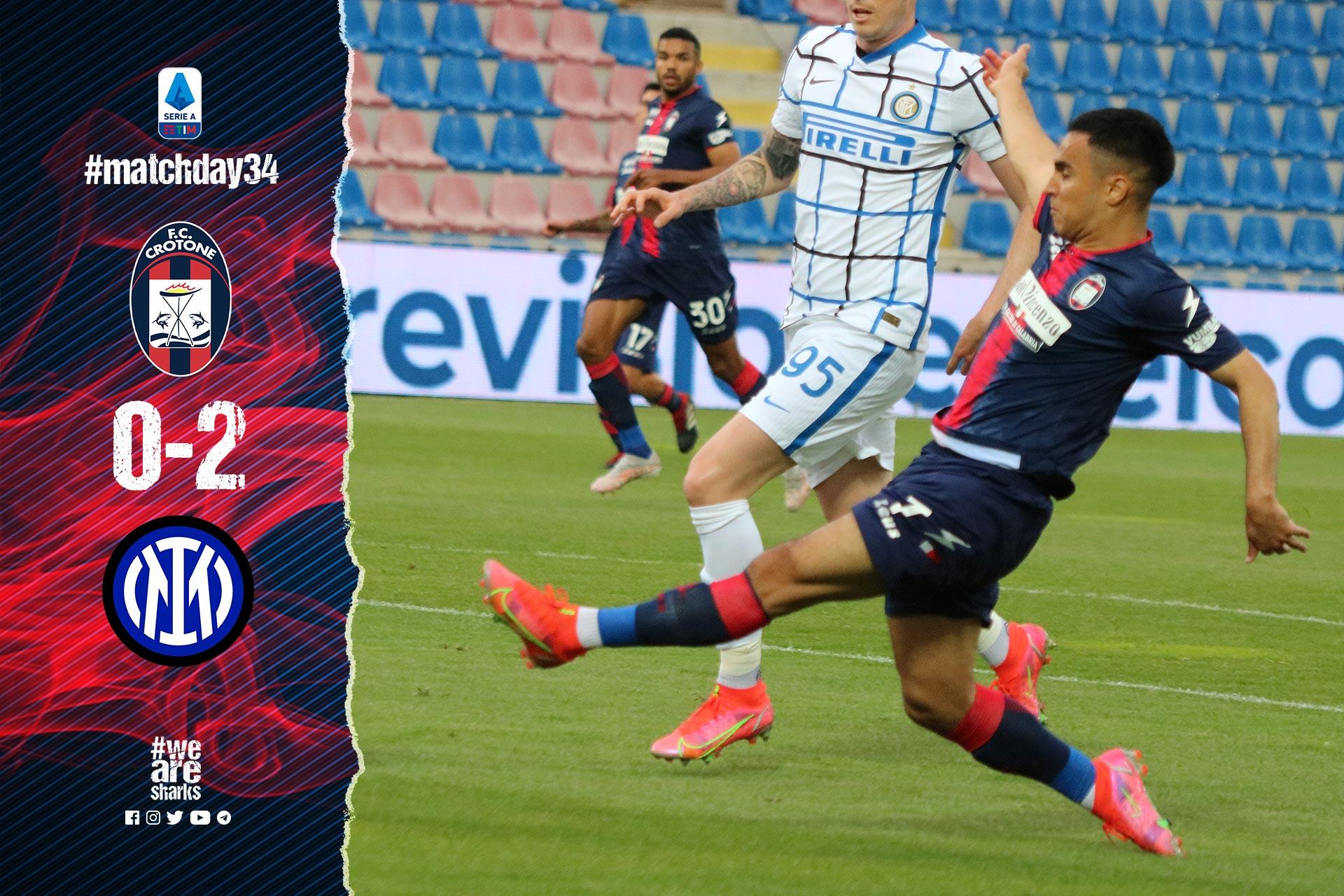 Serie A Tim, 34ª giornata: Crotone-Inter 0-2