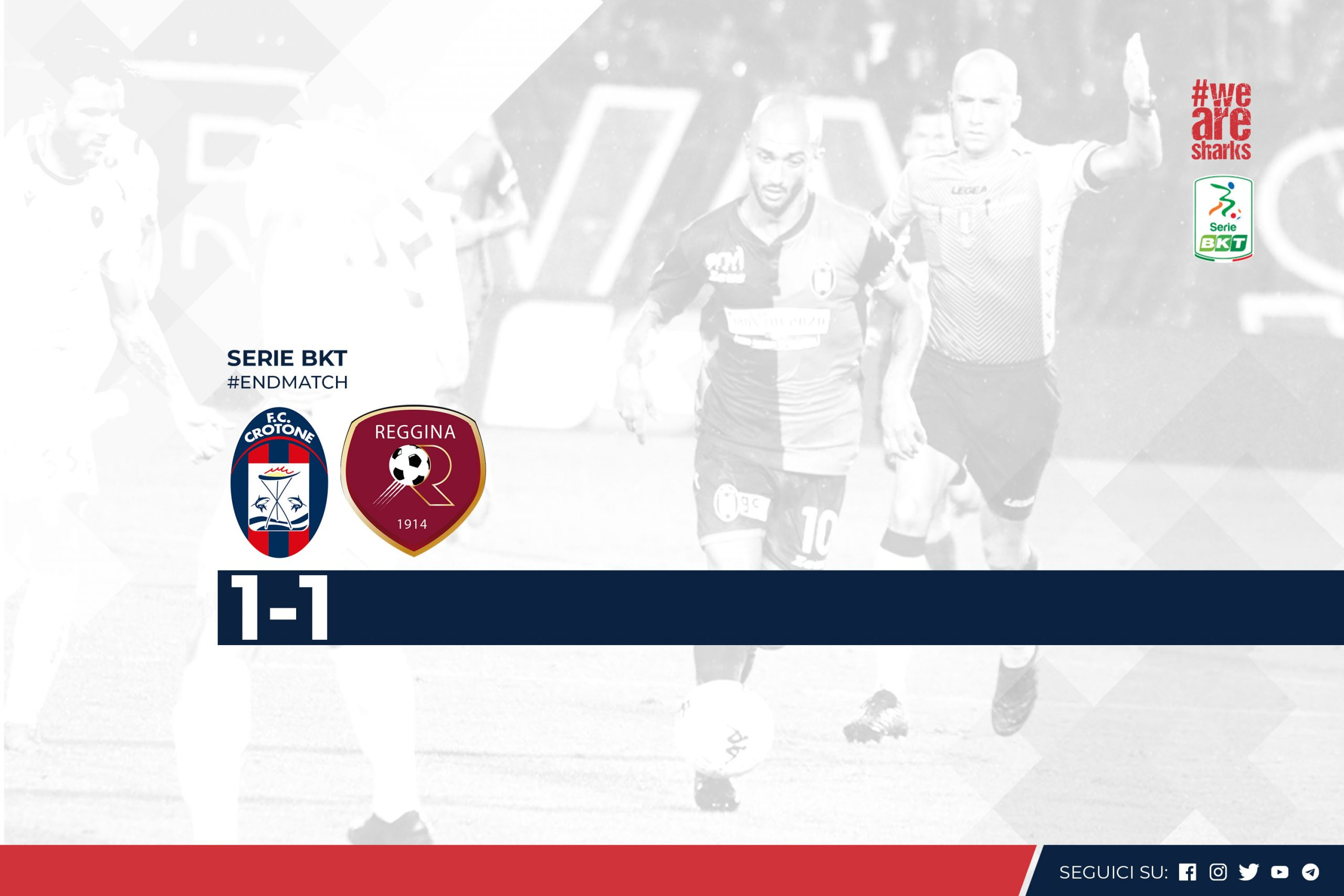 Serie BKT, 3ª giornata: Crotone-Reggina 1-1